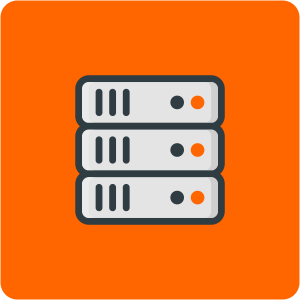 Icon Rack Tidy Service easyNetworks Orange
