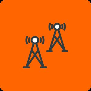 Wireless Backhaul Icon easyNetworks Orange