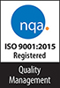 nqa quality management logo stating registered to ISO 9001:2015