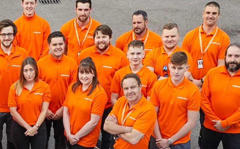 easyNetworks' team and apprentices