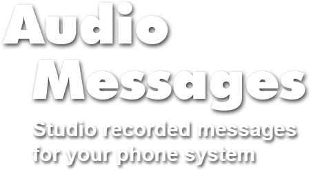 text that reads audio messages studio recorded messages for your phone system