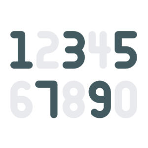 Numbers Icon Transparent