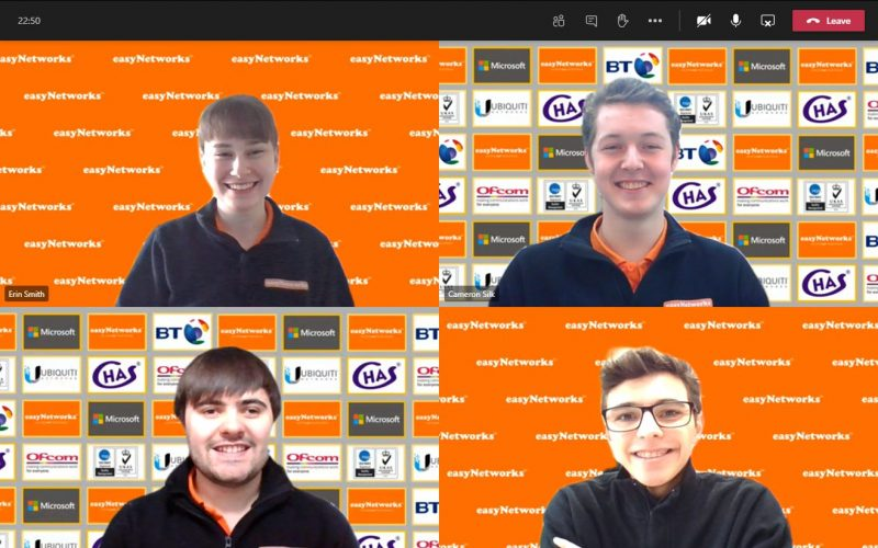 Apprentices at easyNetworks collaborate on Microsoft Teams
