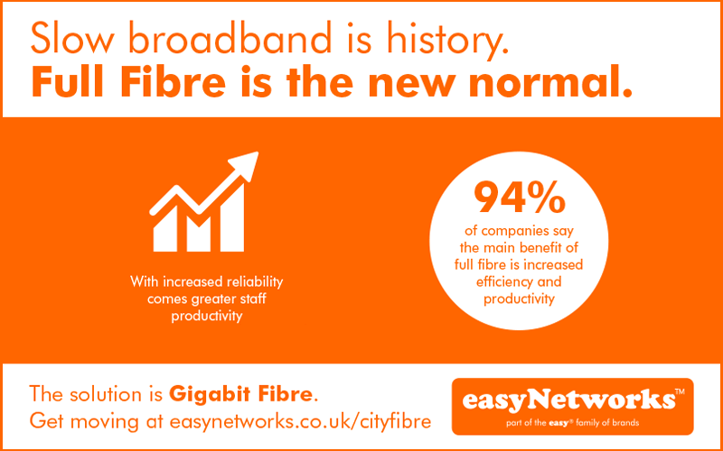 Slow broadband is history article from easyNetworks